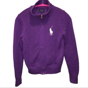 POLO Ralph Lauren zip up purple XL